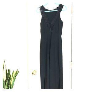 NWT long black slinky dress